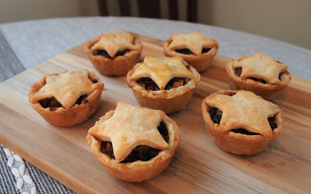 seven small mincemeat pies