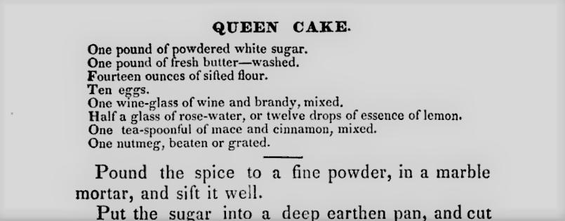 Eliza Leslie's recipe for queen cakes