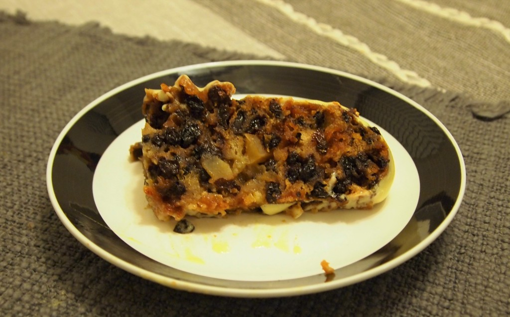 a slice of Christmas pudding