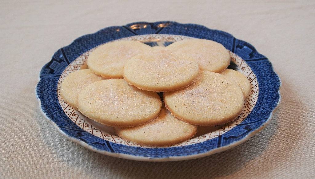 pile of cookies on a blue plate